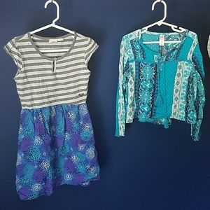 Blue Bundle #2! Roxy dress + Justice top 6/7
